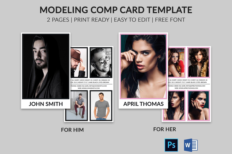 Modeling Comp Card  Model Agency Zed Card  Photoshop  Ms Word Regarding Zed Card Template