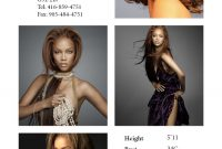 Modeling Comp Card Template Designing Women Fash Model Comp with Free Model Comp Card Template Psd