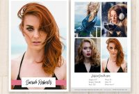 Modeling Comp Card Template Model Comp Card Fashion  Etsy in Comp Card Template Psd