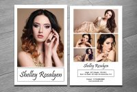 Modeling Comp Card Template On Behance within Zed Card Template