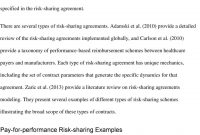 Modeling Pharmaceutical Risksharing Agreements  Pdf with Risk Sharing Agreement Template