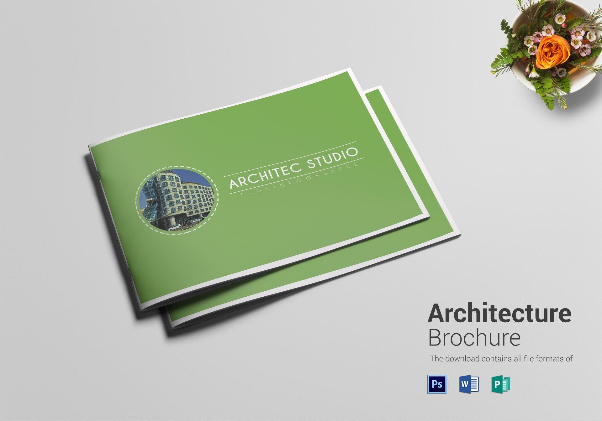 Modern Architecture Brochure Design Template In Psd Word Publisher For Architecture Brochure Templates Free Download
