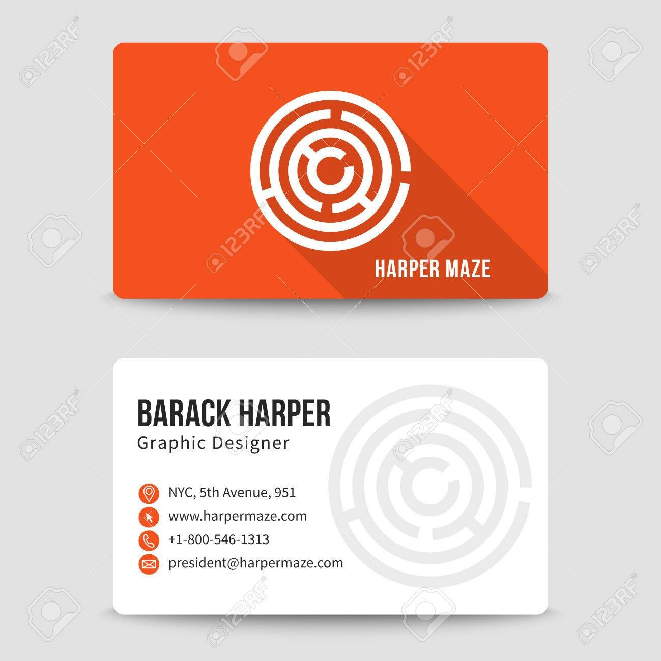 Modern Business Card Template With Maze Address And Phone Number Pertaining To Email Business Card Templates