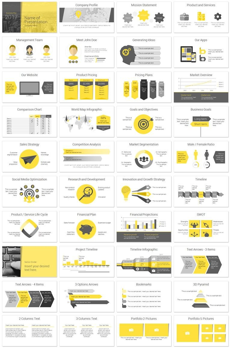 Modern Business Plan Powerpoint Template  Startups N Founders With Business Idea Presentation Template