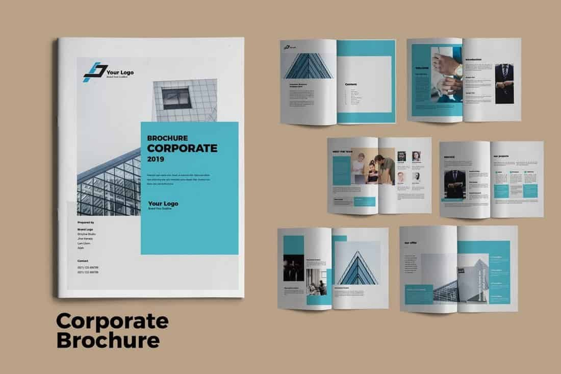 Modern Corporate Brochure Templates  Design Shack Regarding Product Brochure Template Free
