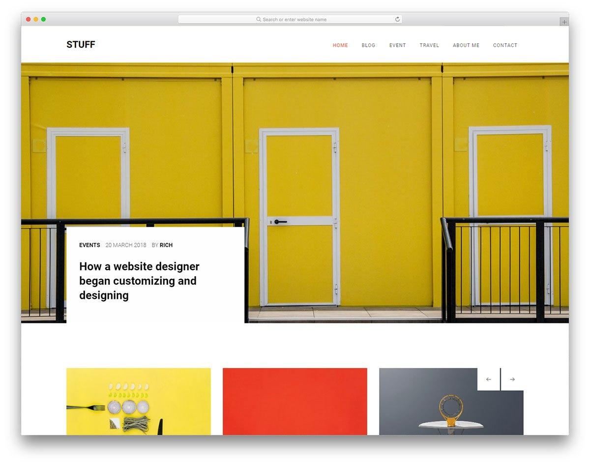 Modern  Free Css Website Templates   Colorlib Intended For Free Css Website Templates With Drop Down Menu