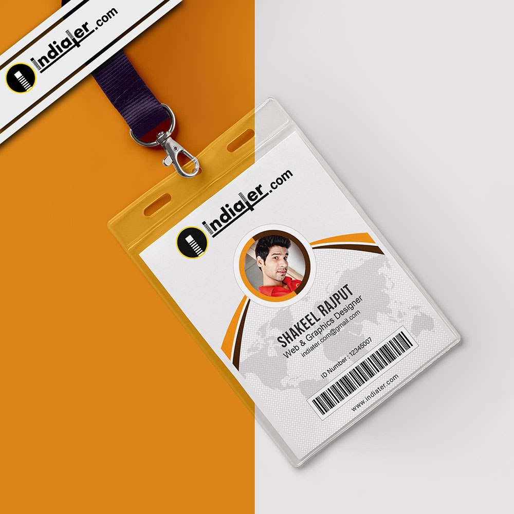 Modern Office Identity Card Free Psd Template  Indiater Intended For College Id Card Template Psd