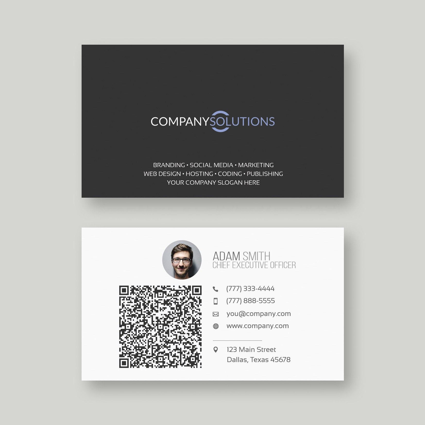 Modern Qr Code Business Card Template  Web•plant•media Intended For Email Business Card Templates