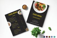 Modern Restaurant Menu Design Template In Psd Word Publisher in Menu Templates For Publisher