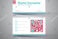 Modern Simple Light Business Card Template Stock Vector Royalty intended for Qr Code Business Card Template