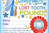 Modern Tooth Fairy Certificates  Rooftop Post Printables within Free Tooth Fairy Certificate Template