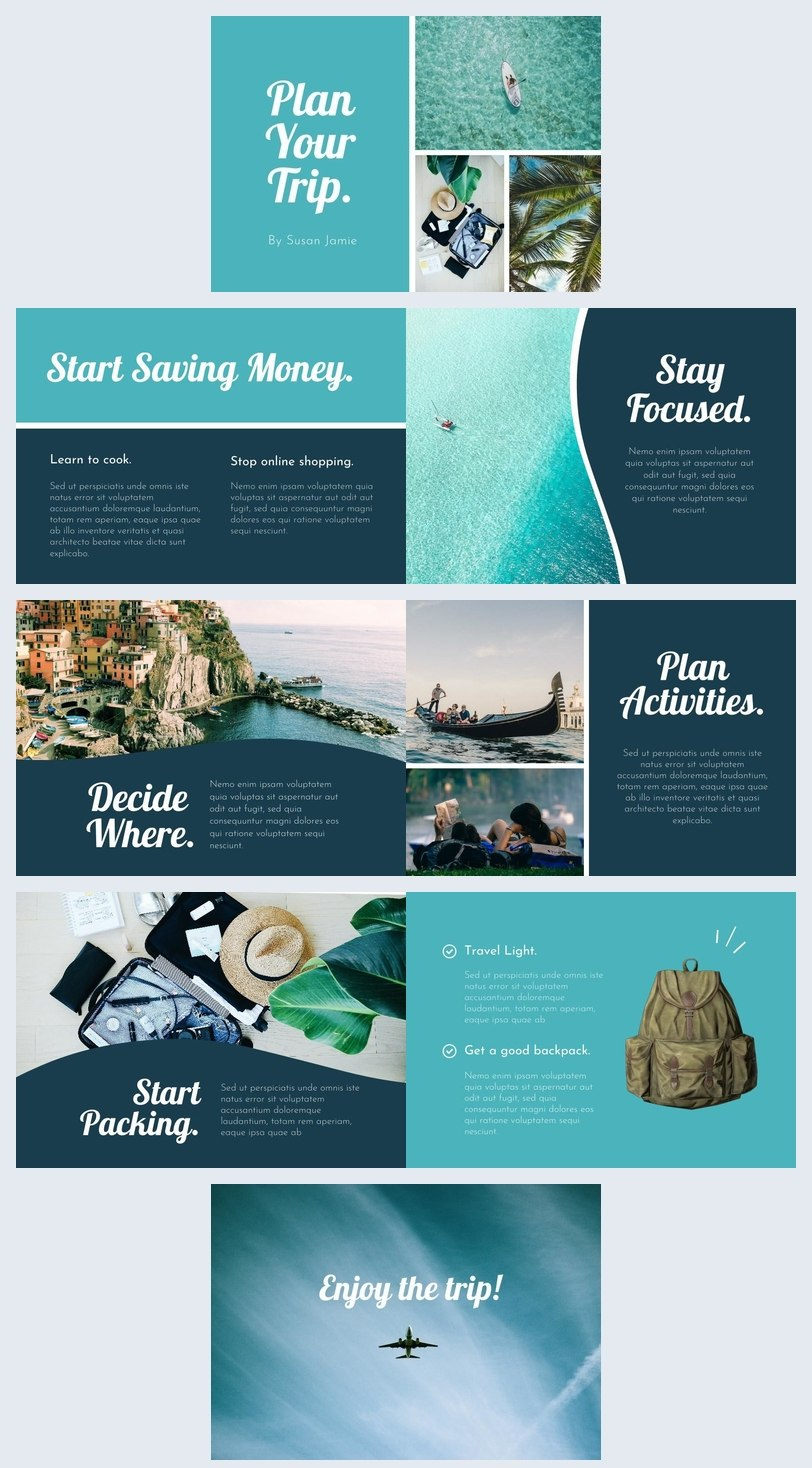 Modern Travel Guide Template  Design  Flipsnack With Travel Guide Brochure Template