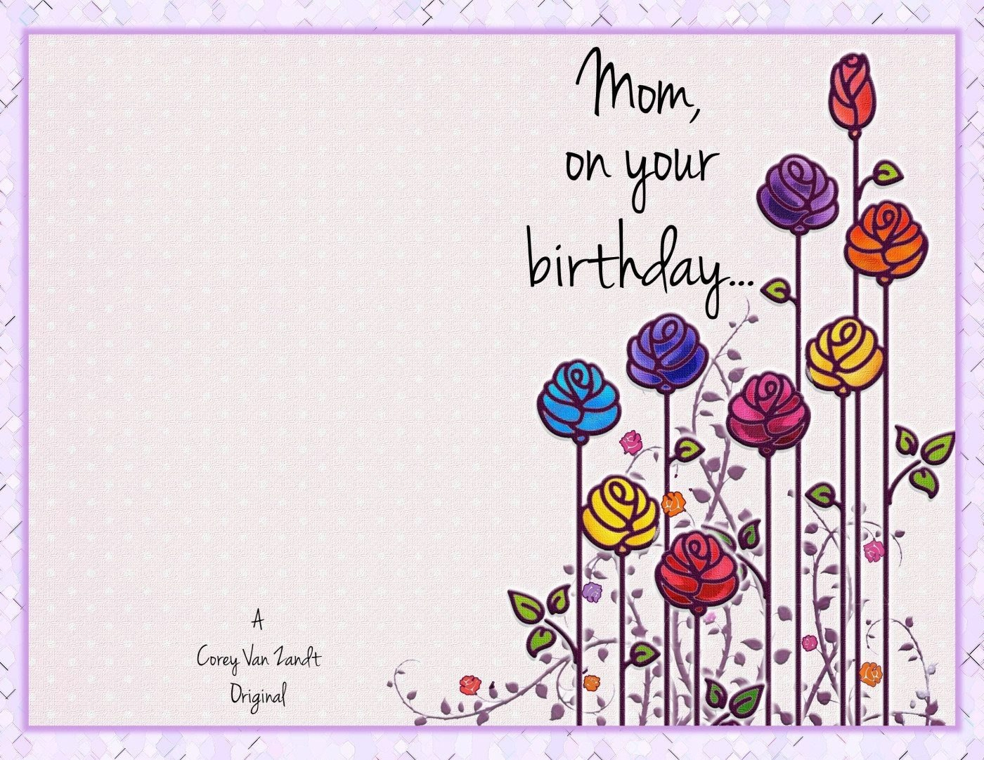 Mom Birthday Card Template  Theveliger Within Mom Birthday Card Template