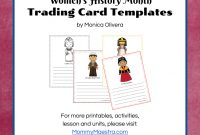 Mommy Maestra Free Download Women In World History Trading Cards throughout Trading Cards Templates Free Download