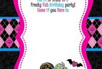 Monster High Party Invitations Template • Invitation Template Ideas regarding Monster High Birthday Card Template