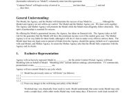Mother Agency Modeling Contract throughout Talent Agency Agreement Template