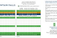 Mountain Falls Scorecard  Elite Golf Management intended for Golf Score Cards Template