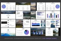 Mountains  Powerpoint Template Featuresexclusiveresolution pertaining to Powerpoint Template Resolution