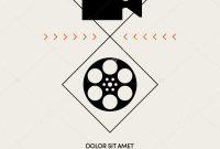 Movie Film Festival Poster Template Design Modern Retro Vintage regarding Film Festival Brochure Template