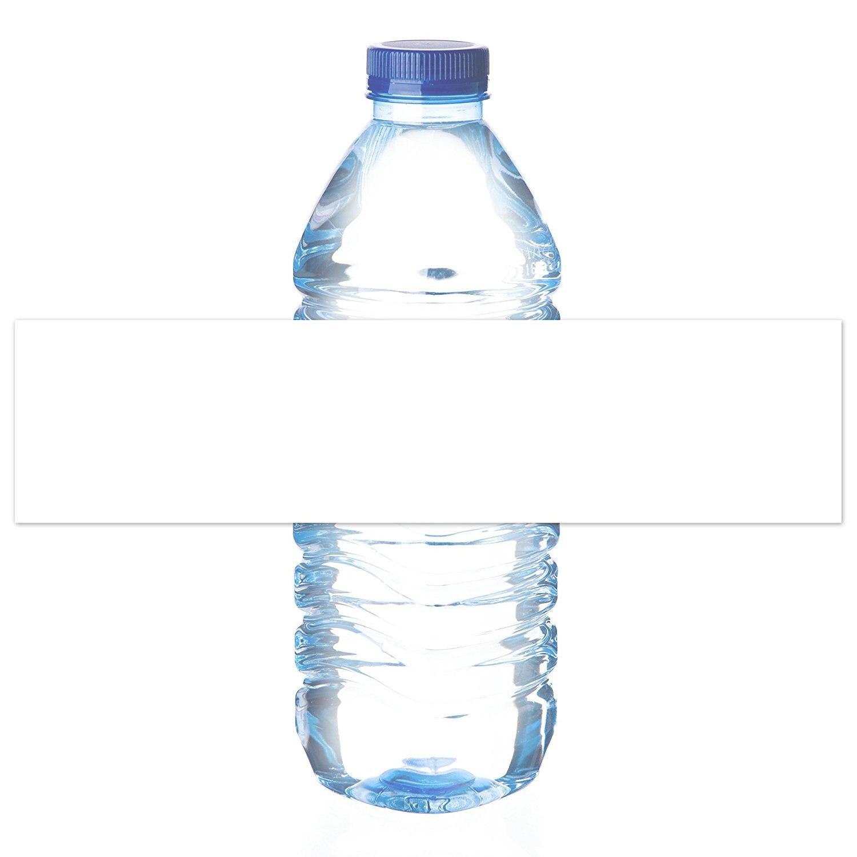 Mrlabel Waterproof Matte White Water Bottle Labels – For Inkjet In Mineral Water Label Template
