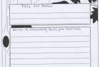 Mrs Jenkins' Third Grade  Nonfiction Book Report Forms inside Nonfiction Book Report Template