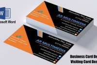 Ms Word Tutorial How To Create Professional Business Card Design In for Microsoft Office Business Card Template