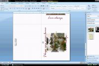 Ms Word Tutorial Part   Greeting Card Template Inserting And in Birthday Card Template Microsoft Word