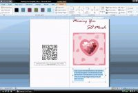 Ms Word Tutorial Part   Greeting Card Template Inserting And in Half Fold Greeting Card Template Word