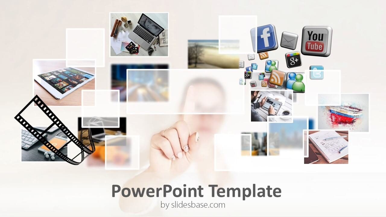 Multimedia Powerpoint Template  Slidesbase Regarding Multimedia Powerpoint Templates