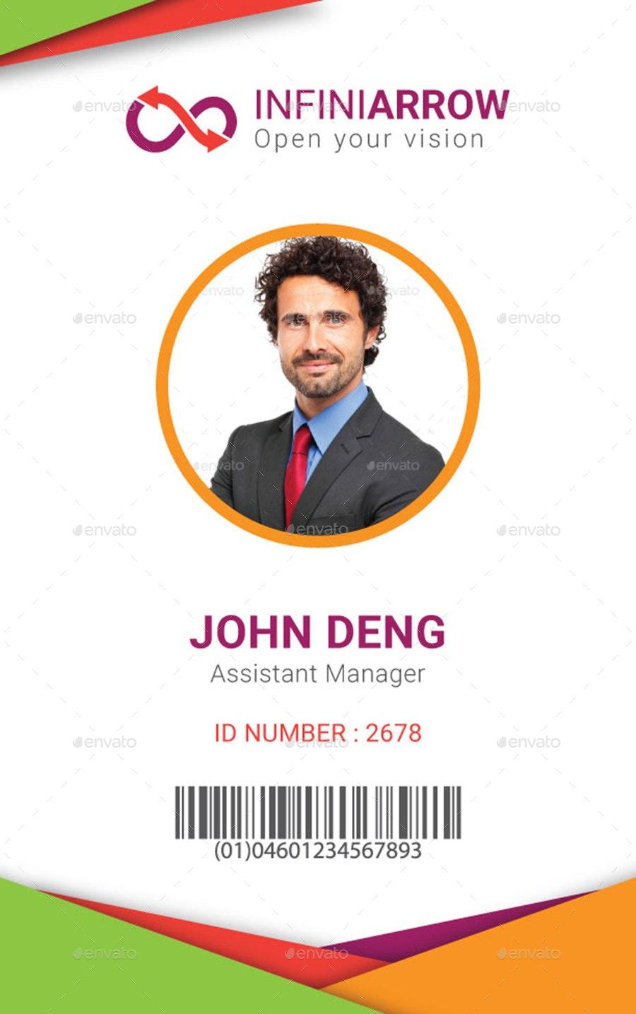 Multipurpose Business Id Card Templatedotnpix  Graphicriver Throughout Media Id Card Templates