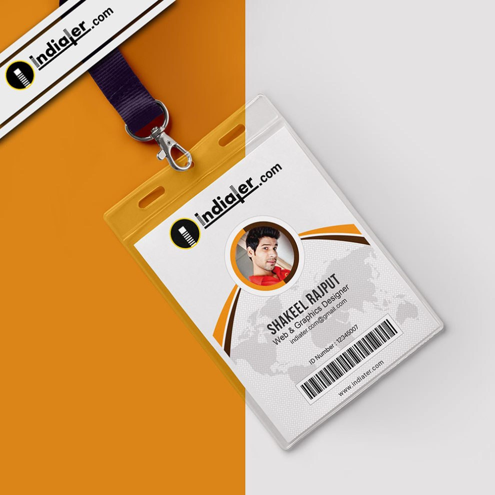 Multipurpose Corporate Office Id Card Free Psd Template  Indiater Throughout Teacher Id Card Template