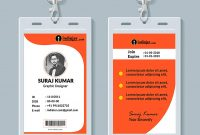 Multipurpose Corporate Office Id Card Free Psd Template  Indiater throughout Template For Id Card Free Download