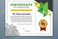 Multipurpose Modern Professional Certificate Template Design For inside Design A Certificate Template