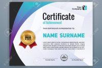 Multipurpose Modern Professional Certificate Template Design with regard to Design A Certificate Template