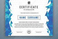 Multipurpose Modern Professional Certificate Template Stock Vector in Design A Certificate Template