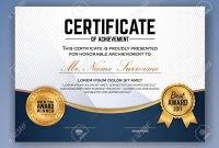 Multipurpose Professional Certificate Template Design For Print inside Professional Award Certificate Template