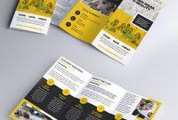 Multipurpose Trifold Brochure Psd Template  Psd Print Template within Brochure Psd Template 3 Fold