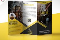 Multipurpose Trifold Business Brochure Free Psd Template with 3 Fold Brochure Template Psd