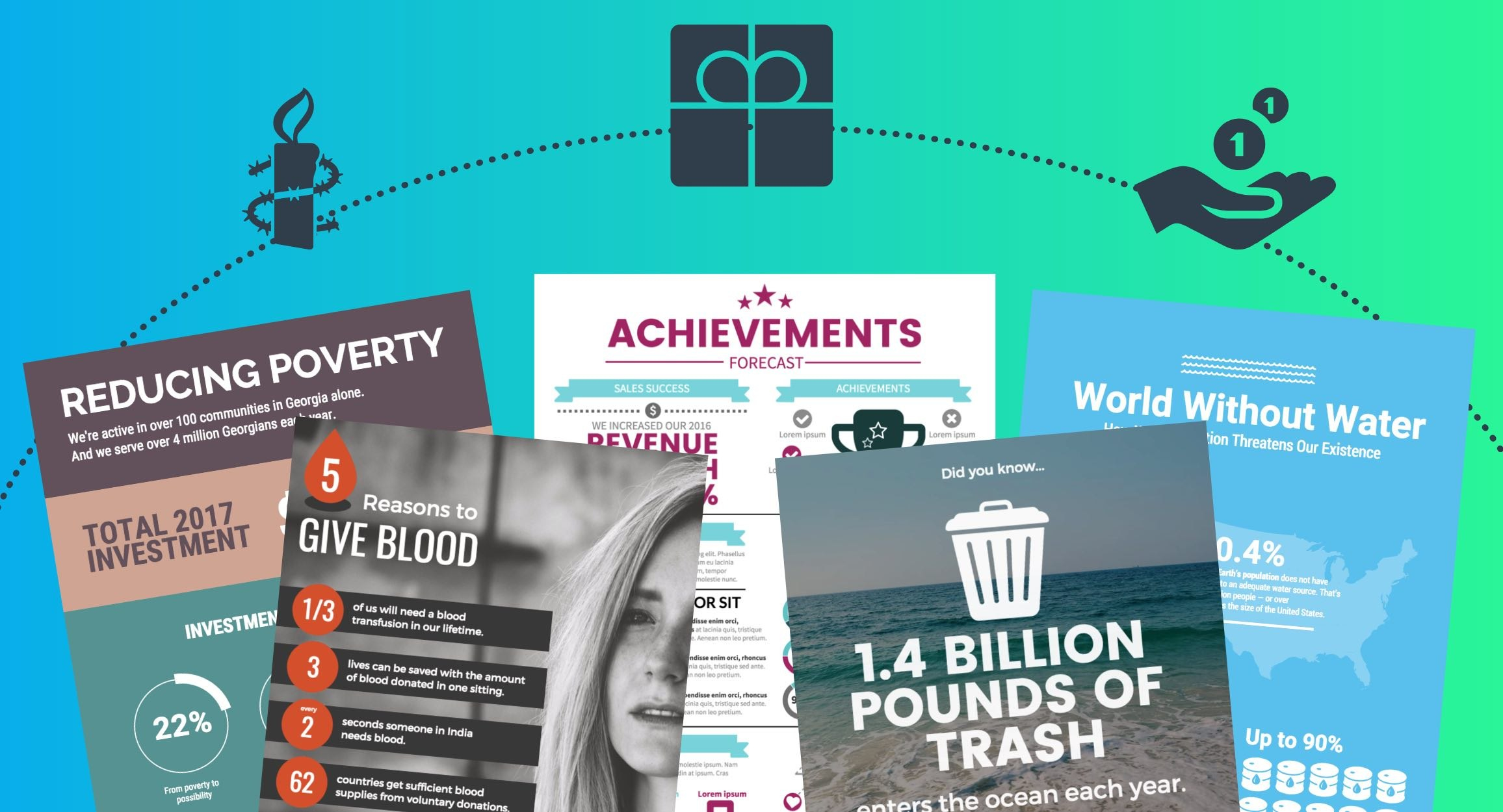 Musthave Nonprofit Infographic Templates To Supercharge Your Throughout Nonprofit Annual Report Template