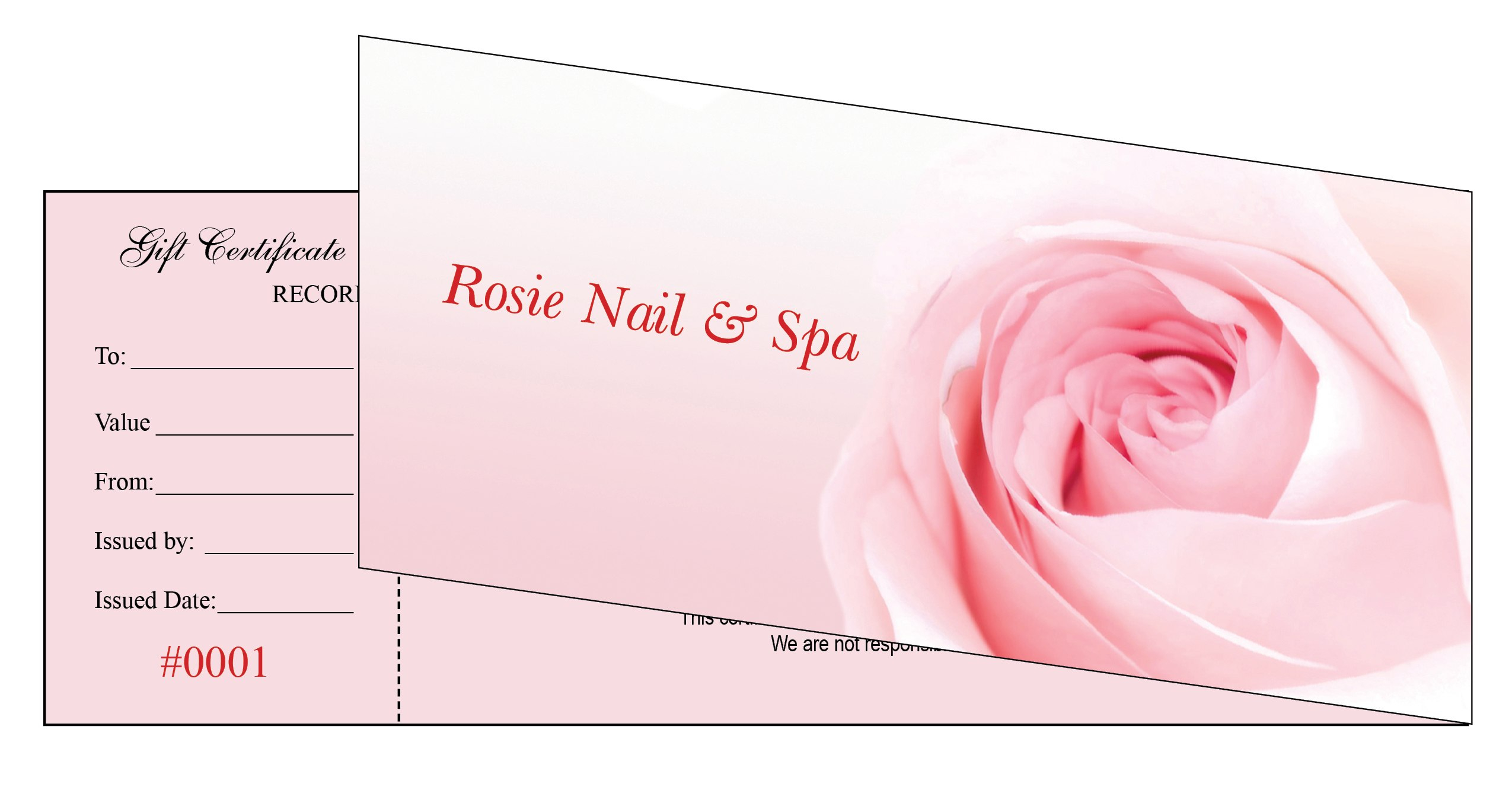 Nail Salon Gift Certificate With Nail Gift Certificate Template Free