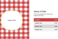 Name Of Dish Slide Design For Powerpoint  Slidemodel with regard to Restaurant Menu Powerpoint Template