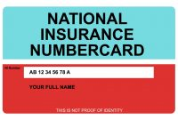National Insurance Number Card  Printed On Hard Plastic Credit with regard to Mi6 Id Card Template