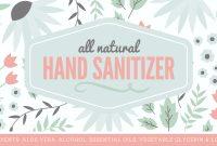 Natural Hand Sanitizer Label  Free Printable With Full Recipe with Hand Sanitizer Label Template