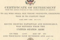 Navy Retirement Certificate Template  Sansurabionetassociats With Regard To Army Good Conduct Medal Certificate Template