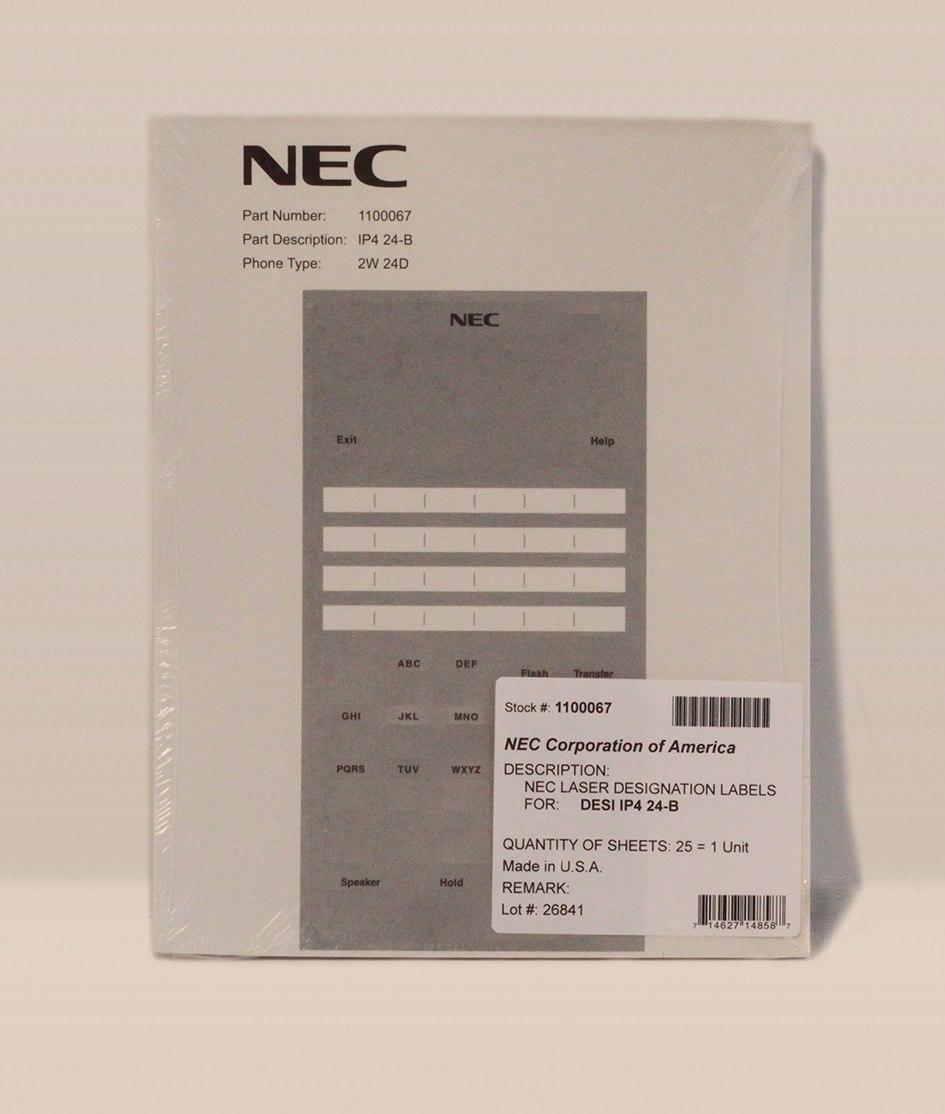 Nec Sl Button Telephone Ipwwtxhbtel Label Within Panasonic Phone Label Template