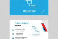 Networking Business Card Design Template Visiting For Your Company for Networking Card Template