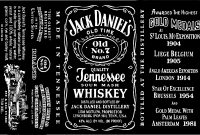 New Blank Jack Daniels Label with Blank Jack Daniels Label Template