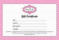 New Gift Certificate Template Free Download  Best Of Template within Homemade Gift Certificate Template