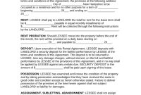 New Hampshire Standard Year Residential Lease Agreement  Eforms within Yearly Rental Agreement Template