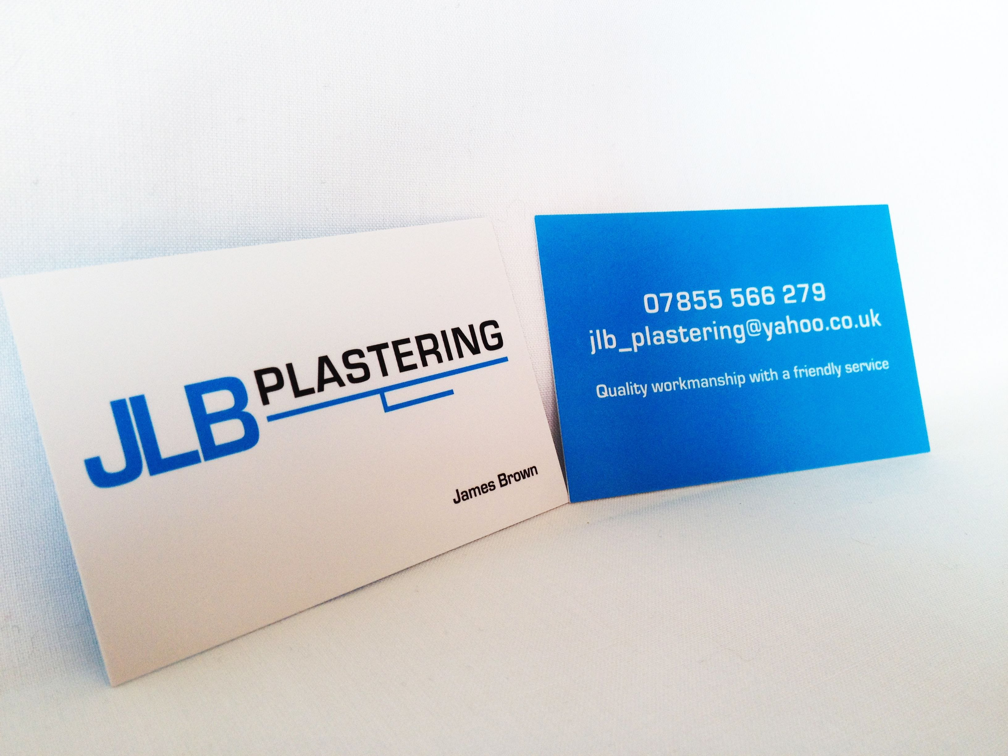 New Jlb Plastering Business Cards And Logo Design  Logo Throughout Plastering Business Cards Templates